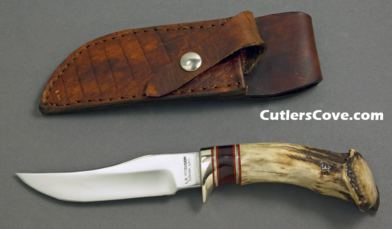 Larry A  Peterson upsweep skinner with polished Mule deer