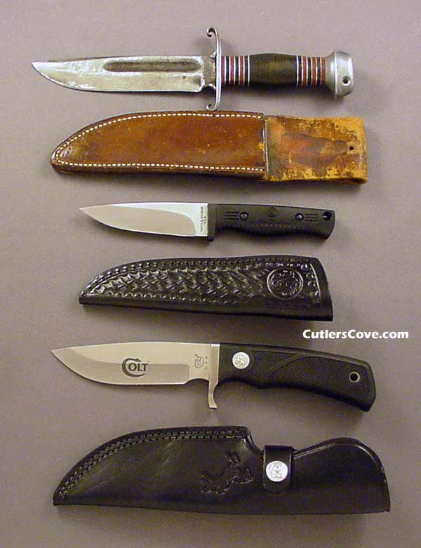 Remington DuPont, Smith & Wesson, Colt hunter blades with